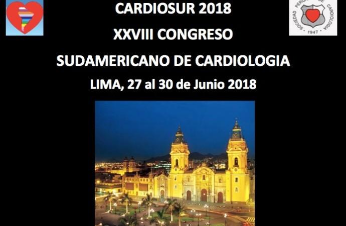 XXVIII Congreso Sudamericano de Cardiología CARDIOSUR 2018