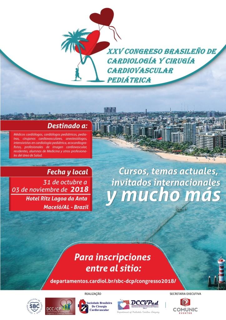Flyer congreso brasileño de Pediatria