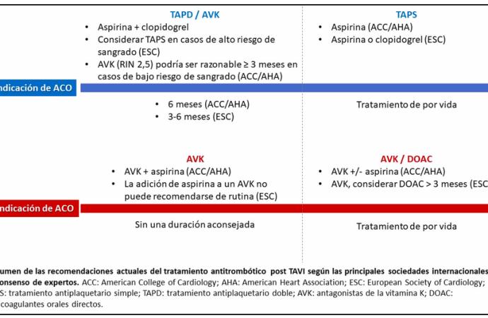 Terapia antitrombótica en pacientes sometidos a un implante valvular aórtico percutáneo