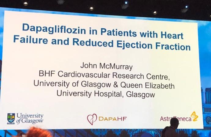 CONGRESO ESC 2019: Insuficiencia cardíaca: paragon hf y dapa hf