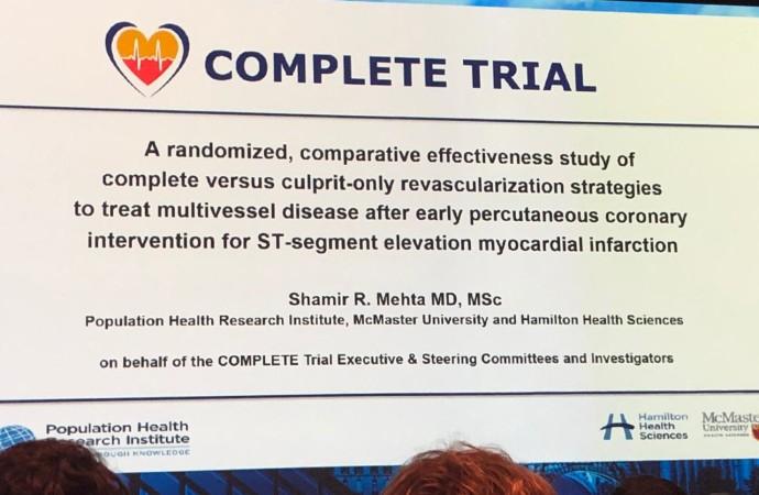 CONGRESO ESC 2019: Sindrome coronario agudo: complete e isar react 5