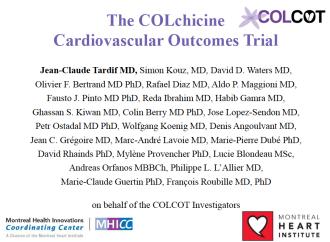 CONGRESO AHA19 – Eficacia y seguridad de Baja dosis de Colchicina luego de un infarto de miocardio