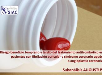 Riesgo beneficio temprano y tardío del tratamiento antitrombótico en pacientes con fibrilación auricular y síndrome coronario agudo o angioplastia coronaria