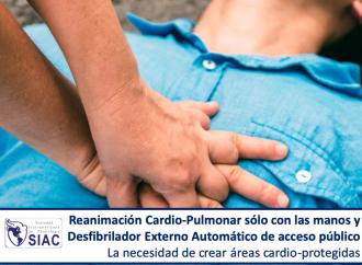 Reanimación Cardio-Pulmonar sólo con las manos y Desfibrilador Externo Automático de acceso público