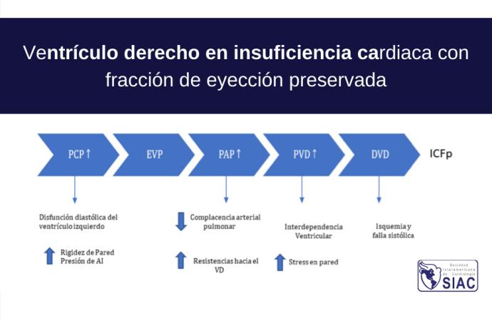 Ventrículo derecho en insuficiencia cardiaca con fracción de eyección preservada