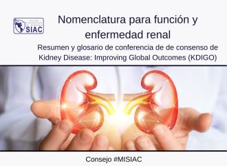 Nomenclatura para función y enfermedad renal