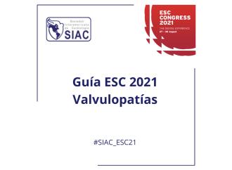 Guías europeas 2021 – Enfermedades valvulares